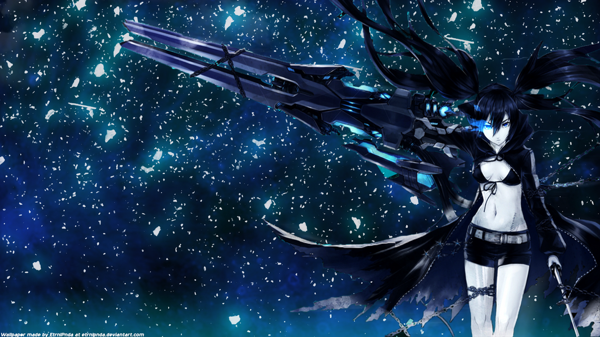 black rock shooter wallpaperetrnlpanda on deviantart