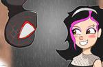 Miles Morales Spiderman and Katherine Bishop by LaserGunsPewPew18