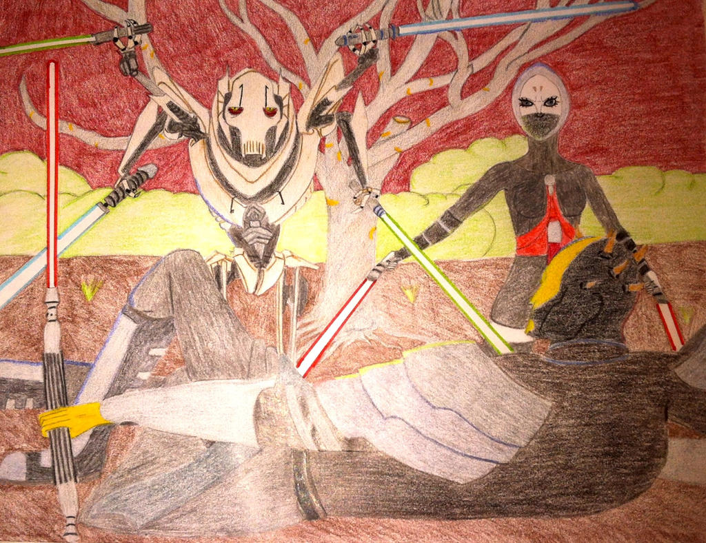Contest Entry: Grievous and Asajj against Savage by Shayza100