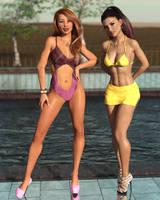 Shauna and Ayla by SlimMckenzie