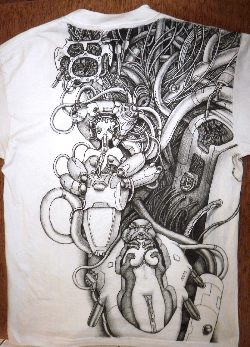 Cyber - drawing on shirt by Imgema