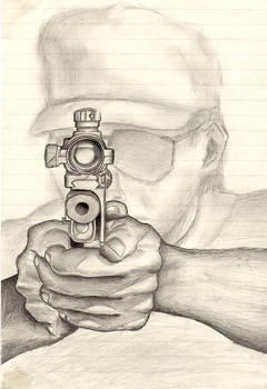 Man holding a pistol