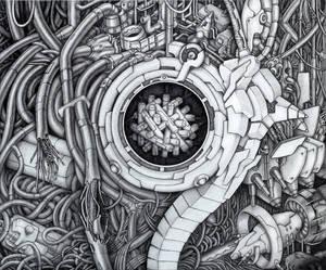 Cyberpunk abstract: Engine