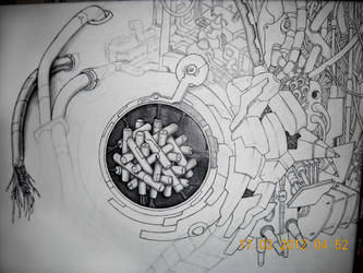Work in progress of my Random Cyber Art