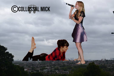 Giantess Shailene Woodley's Foot Fetish by colossal-mick