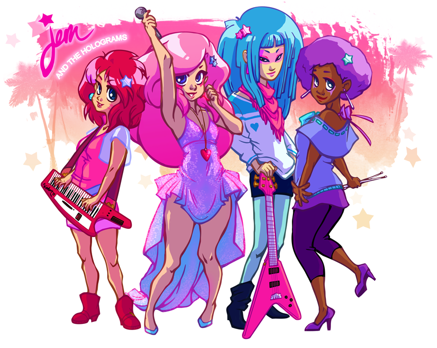 Jem and the holograms by Naty-Ilustrada on DeviantArt