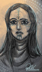 Ishtar Sketch by peach-mork