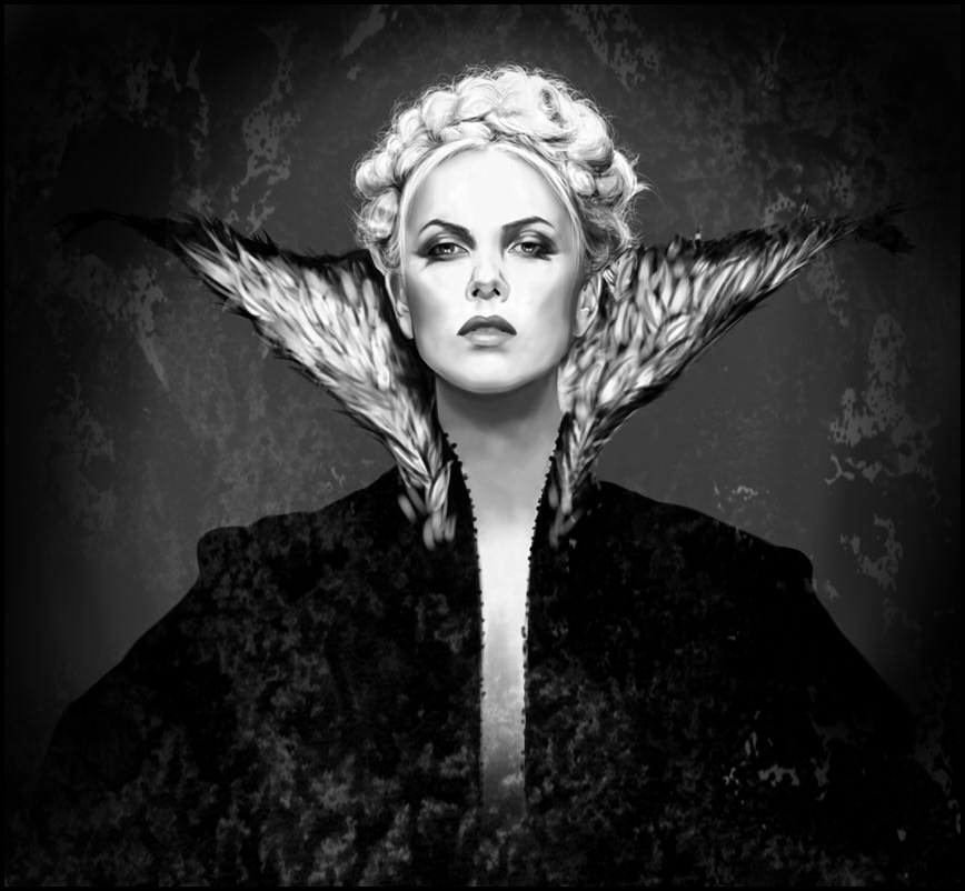 Charlize Theron as Evil Queen by MartaDeWinter