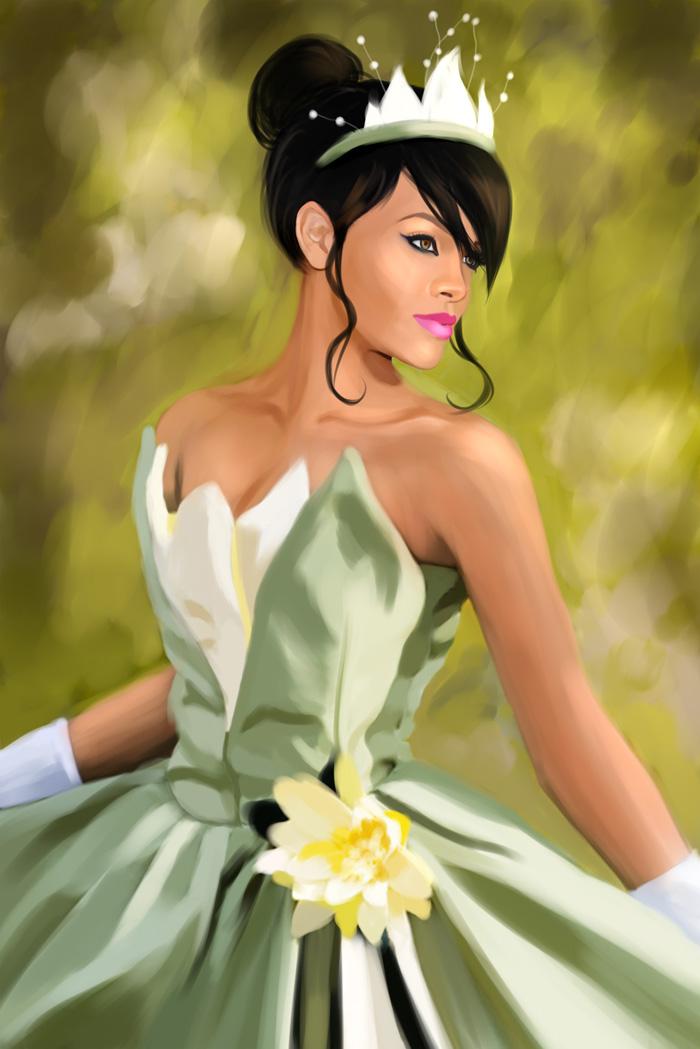 Rihanna as Tiana by MartaDeWinter