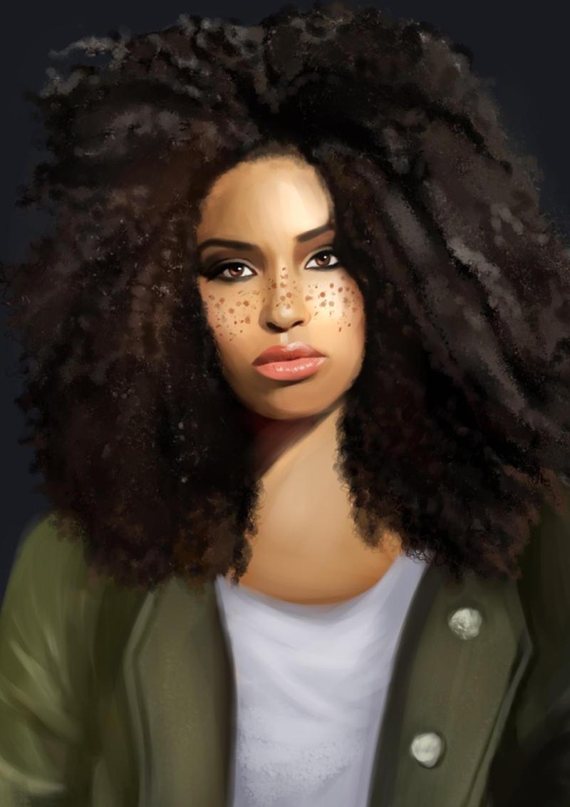 Afro-girl