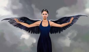 Katniss in Mockingjay dress by MartaDeWinter