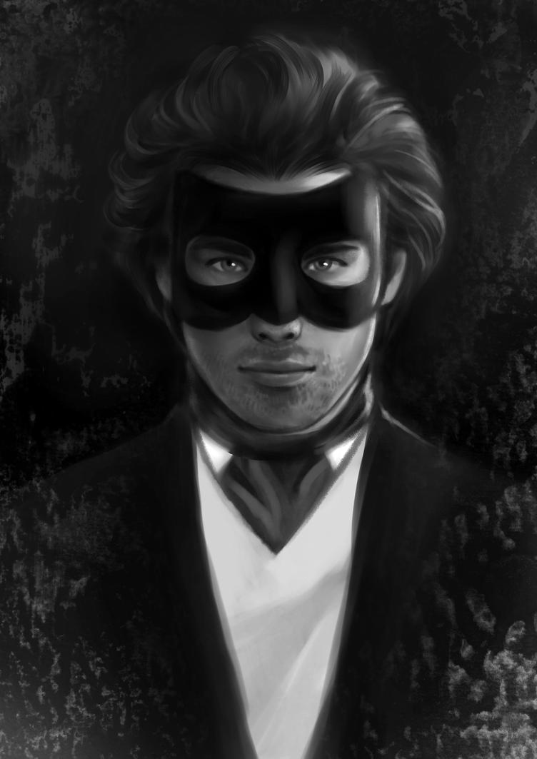 Man in mask by MartaDeWinter
