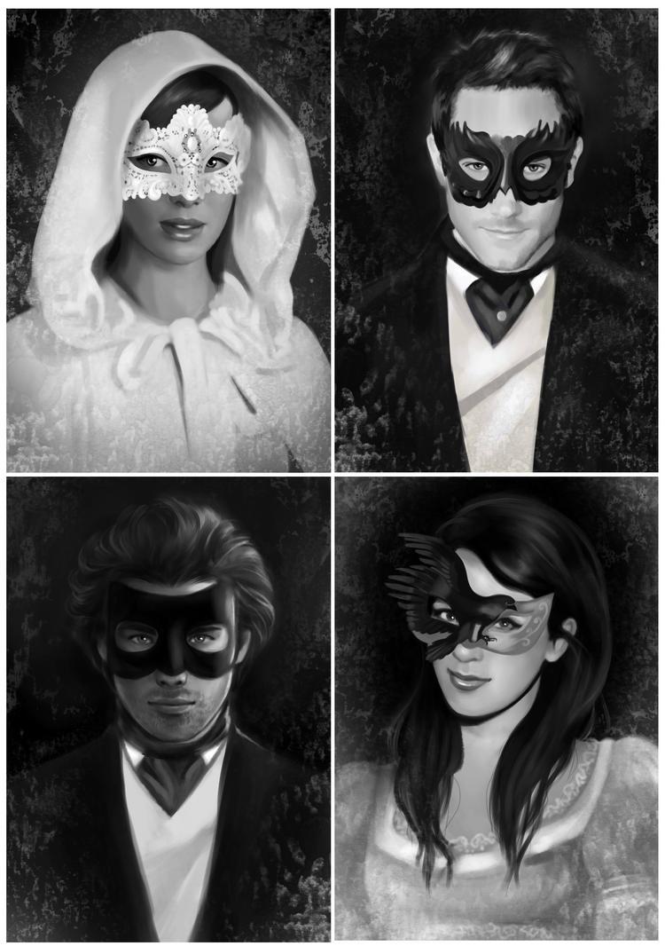 All in masks by MartaDeWinter