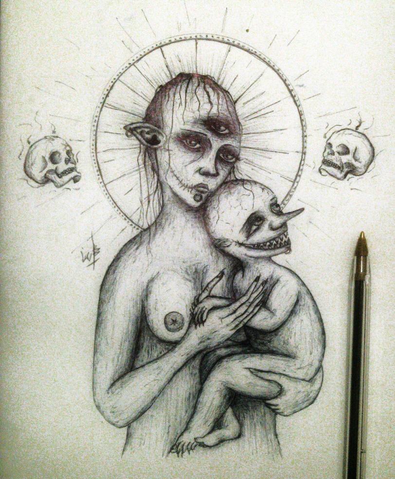 Silence of Mary by mornosm
