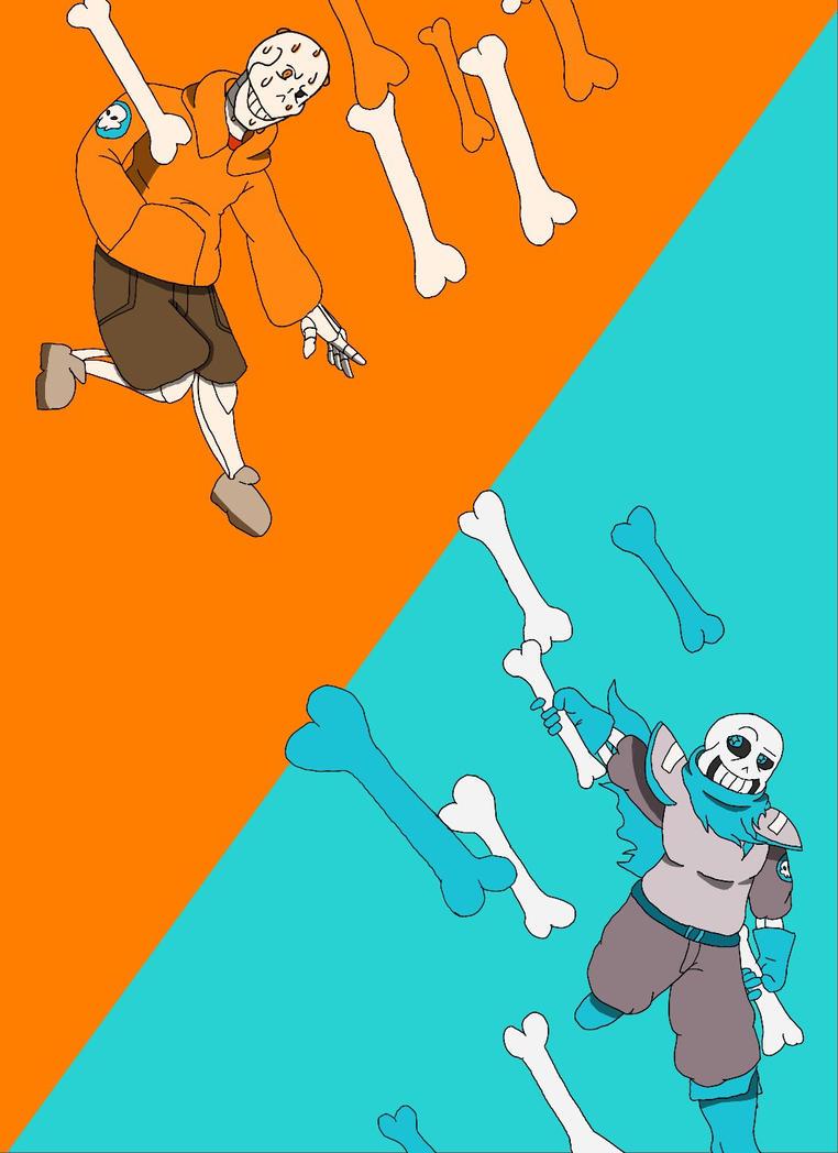 Skeleton bros! by GameKING144