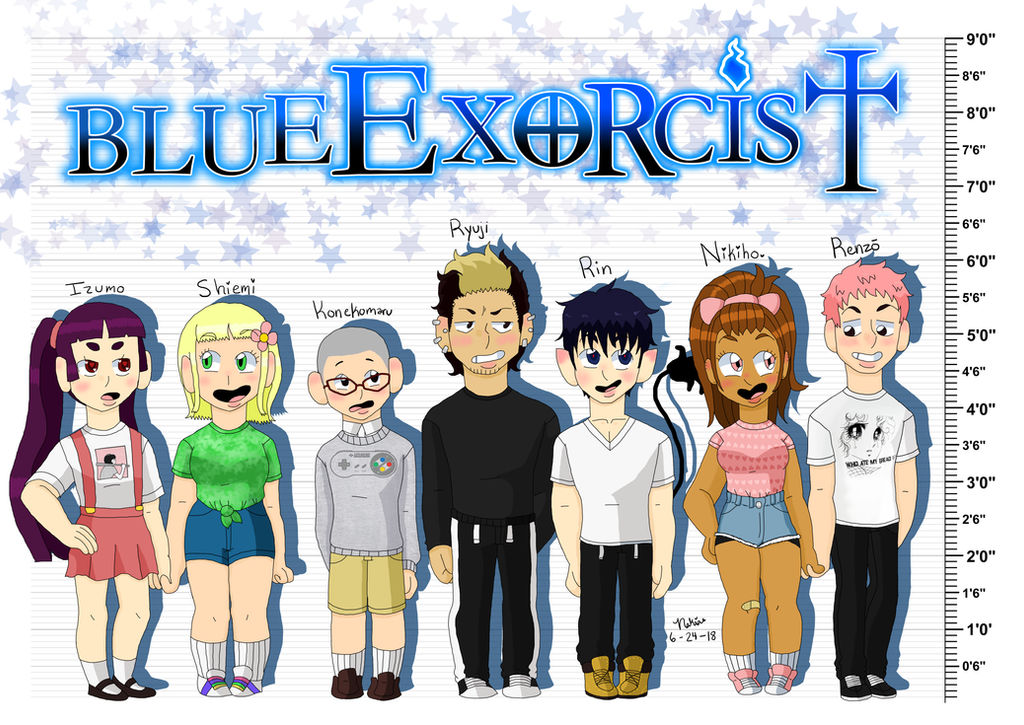 Blue Exorcist Exwires - Height Chart