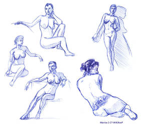Figure Drawing 2-27-08 by MutantPenguin