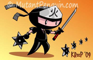 Chibi-ninja by MutantPenguin