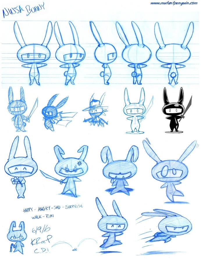 Ninja Bunny by MutantPenguin