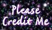 Please Credit me stamp