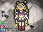 Super Sailor Moon mini perler pin. by ReneesCustoms