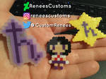 Sailor Saturn mini perler pins by ReneesCustoms
