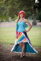 Rainbow Dash Gala Dress Cosplay by PaperDollyCosplay