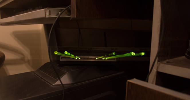 modem lights !