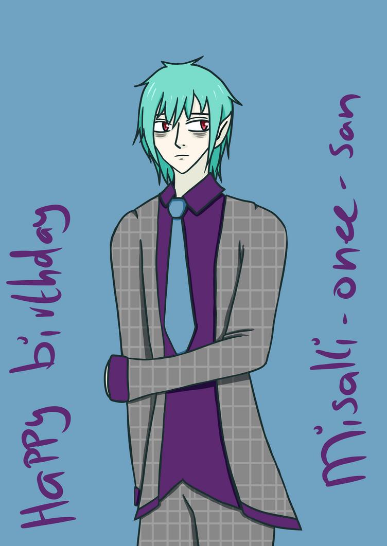 Happy birthday Misaki!! by jawldeen