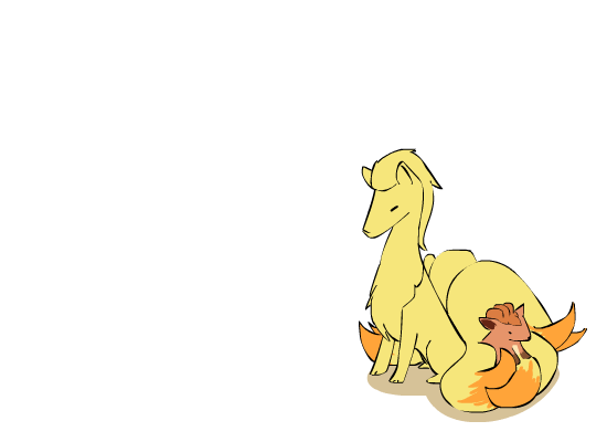 Ninetails + Vulpix by Dunsparce-is-best