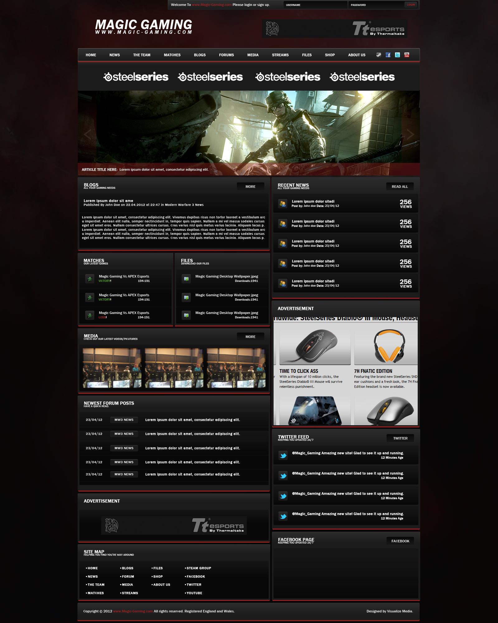Magic Gaming/Esports Website Design by JAMiddleton on DeviantArt