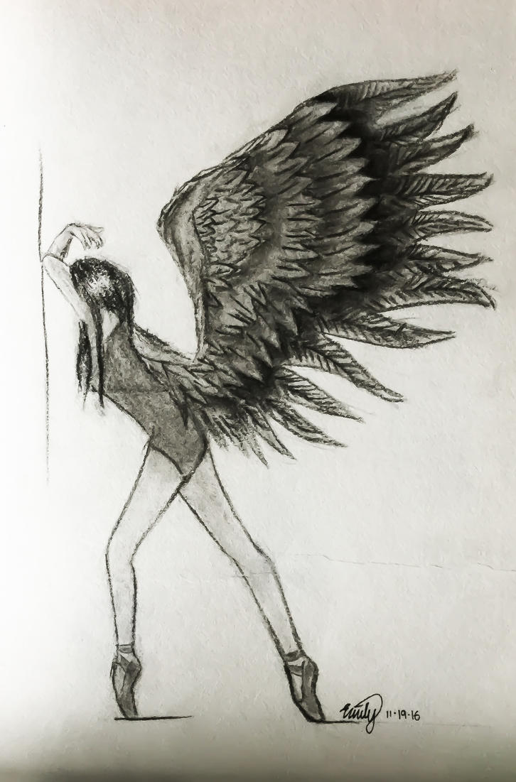 Charcoal Angel by caterpieyeah
