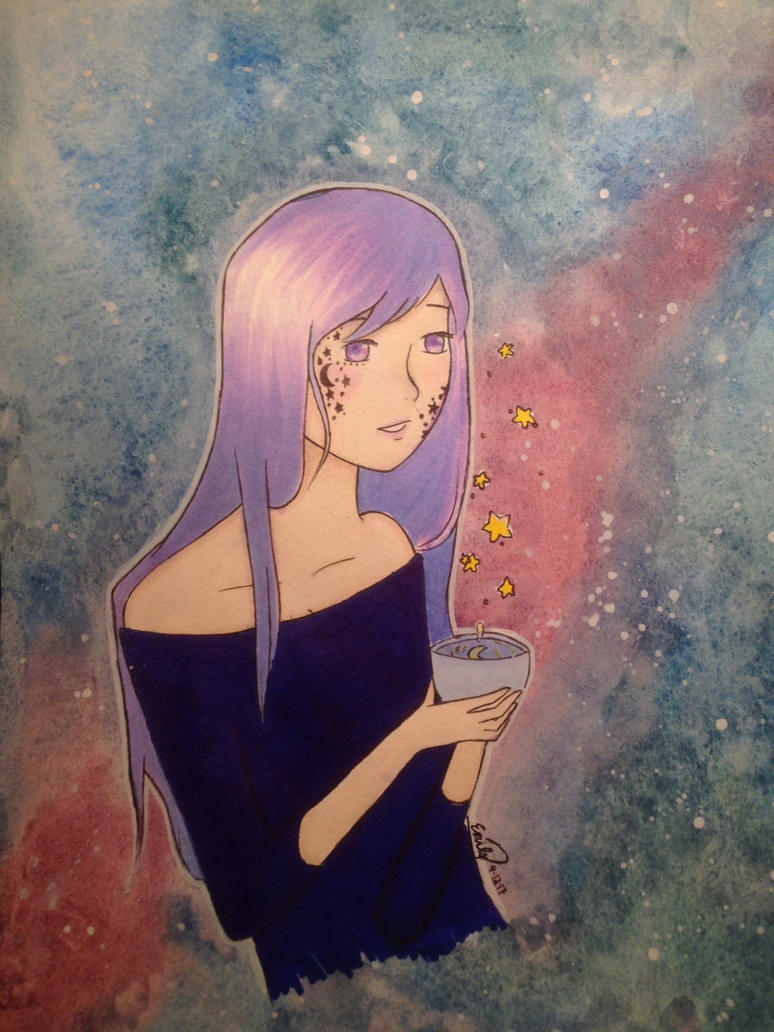 Galaxy Girl by caterpieyeah