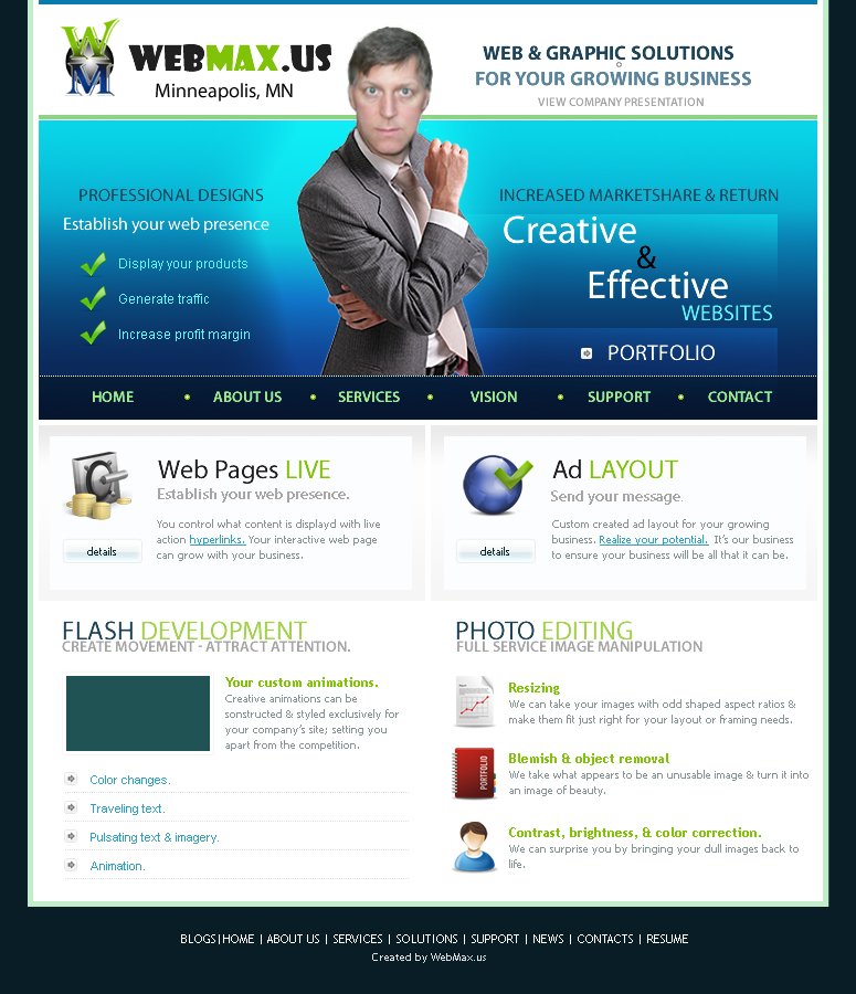 WebMax Hpme Page by Duganrox