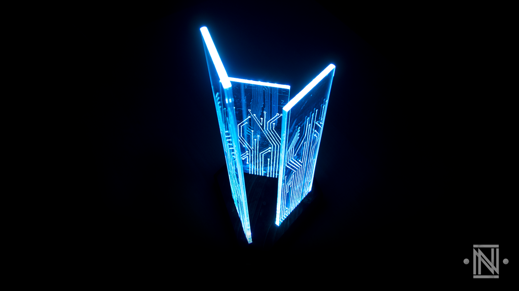 Colour-changing LED lamp || Circuit board art 1 by Natural-Nerd on ...
