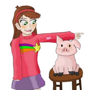 Mabel and Waddles by Mrromeijn