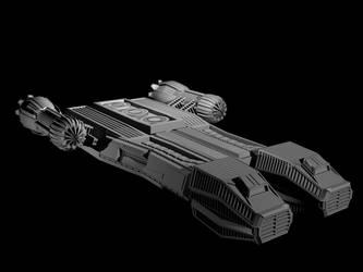 Corvette Class Starship by TheShadowhisperer