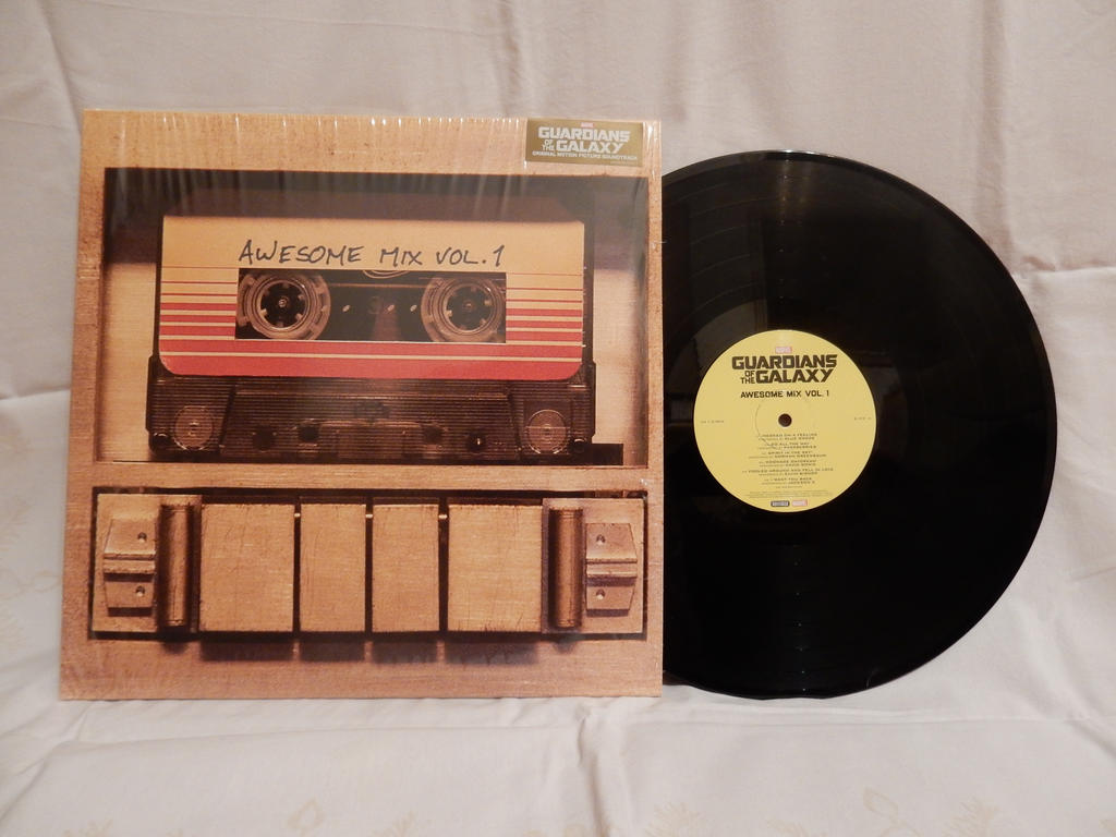Soundtrack vinyl disc from Guardians of the Galaxy by Hamster56