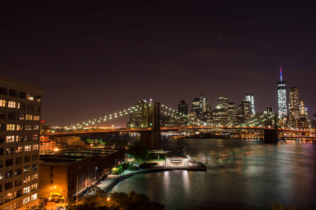 Brooklyn Bridge and Freedom Tower by BS4711