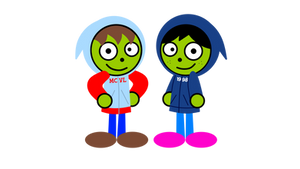 PBS Kids Fan Art - Me and Mandy with our hoods up