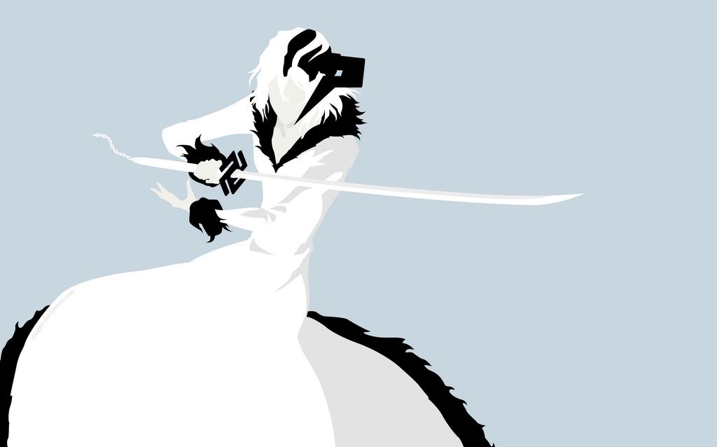 White Zangetsu - Bleach by Dingier