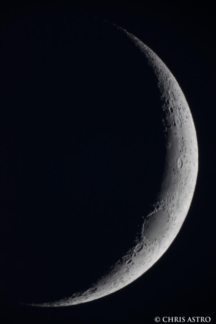 Waxing Crescent Moon April  2013 by CharonA101