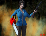 Ashley and The Evil Dead. by CharonA101