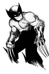 Wolverine sketch (inked) by mw777