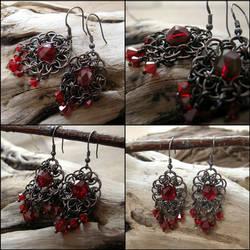 Bloody Reds earrings