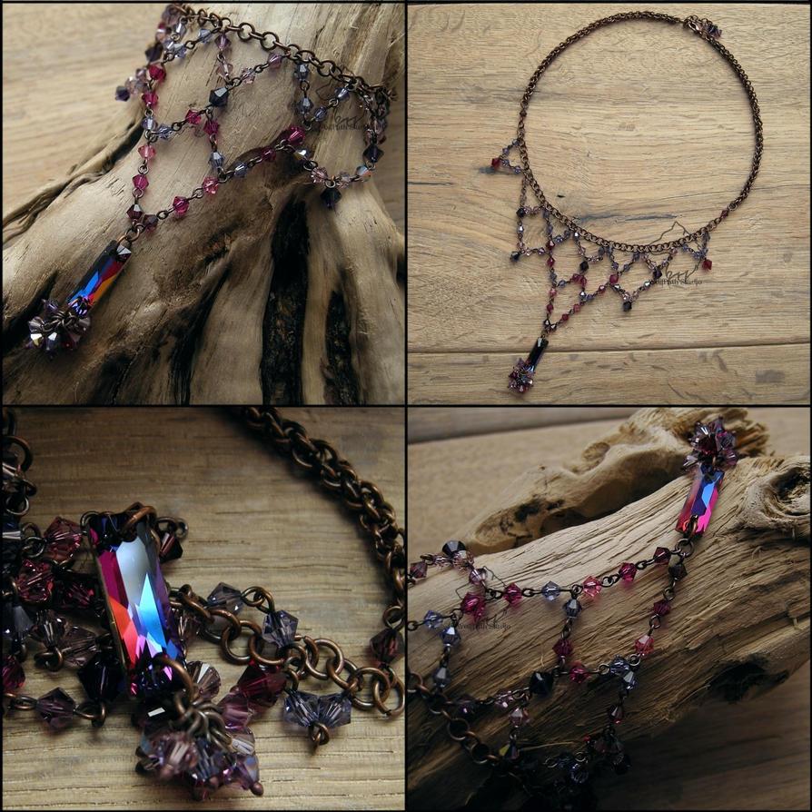 Lilac Shine necklace by Dark-Lioncourt