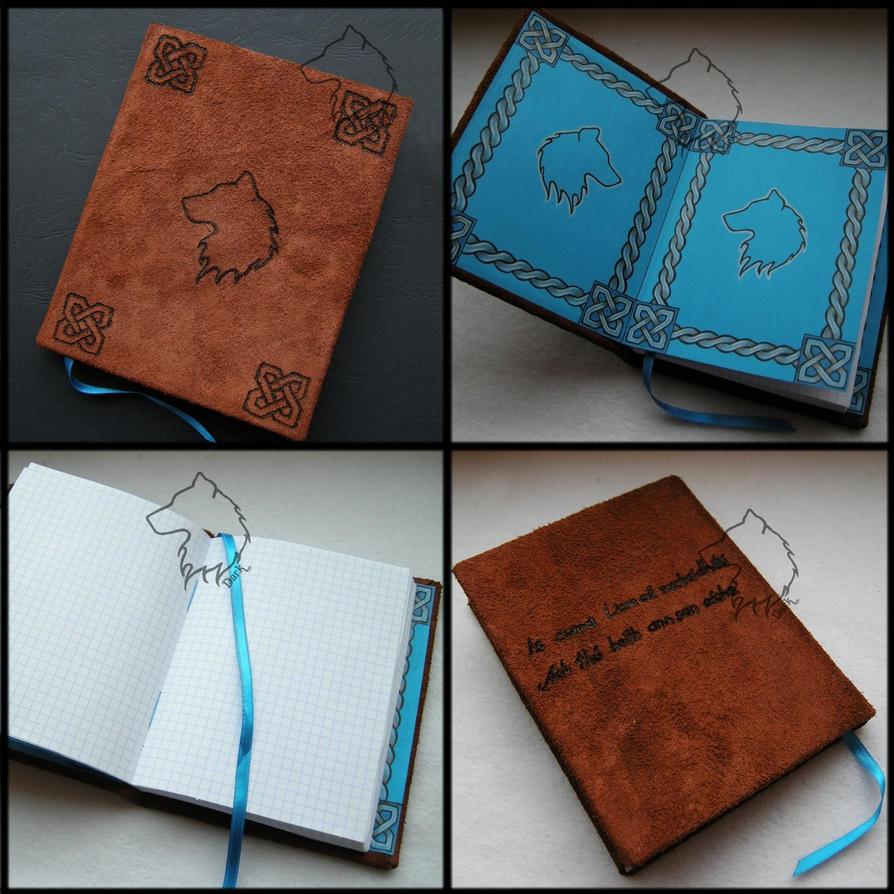 Wolfbook - handmade notebook by Dark-Lioncourt