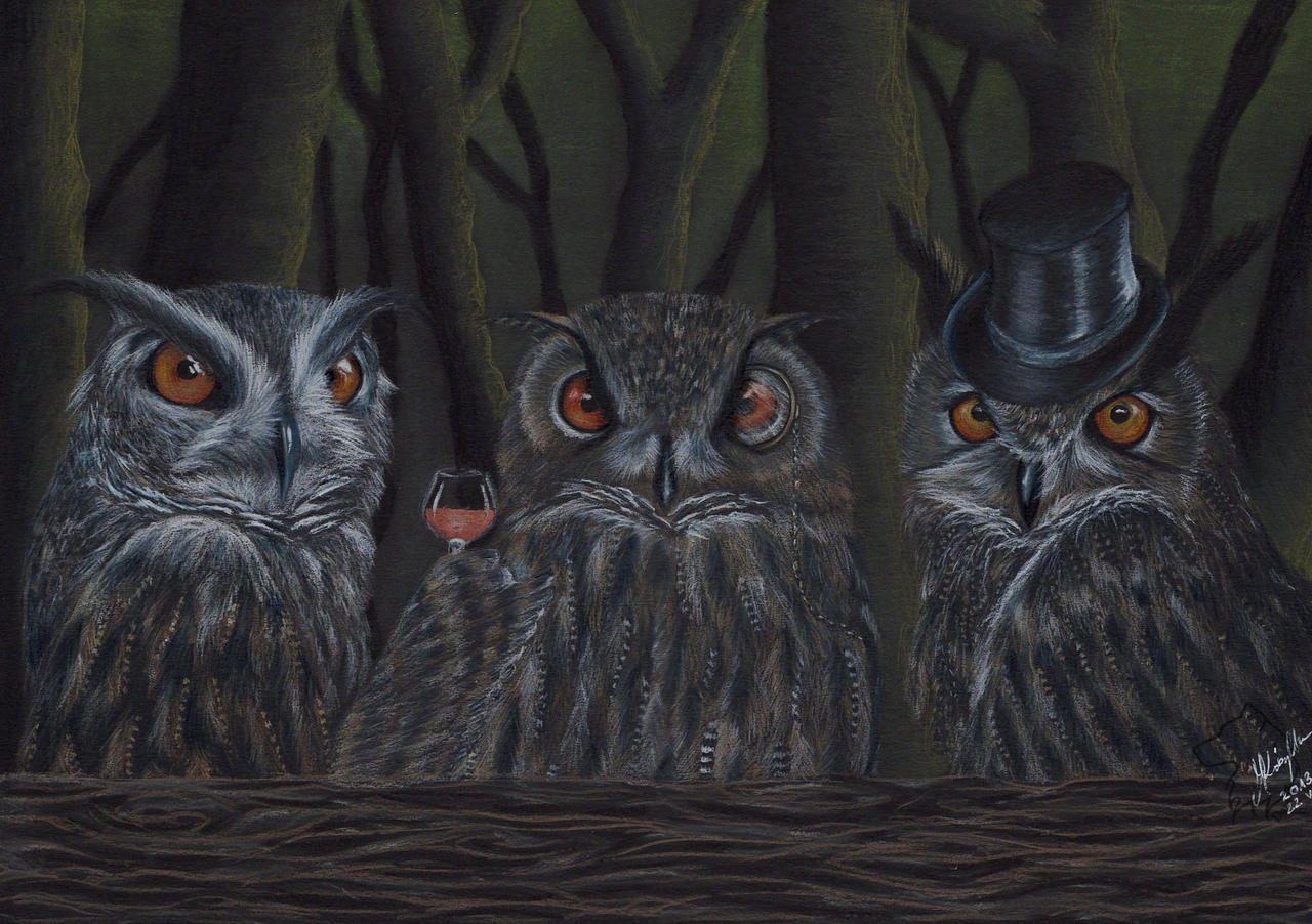 Rada Puchaczy - The Council of Eagle Owls by Dark-Lioncourt