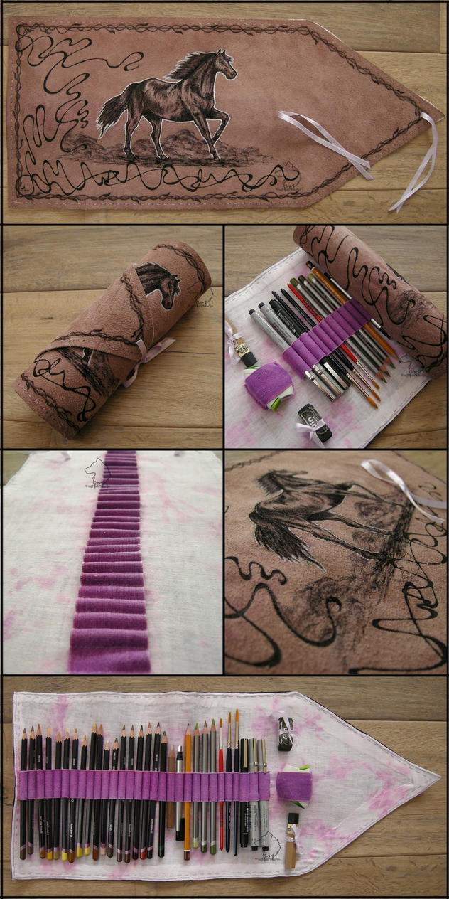 PurpleHorse v2.0 - Handmade Pencil Wrap by Dark-Lioncourt