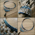 Blue Sky and Black Tear choker